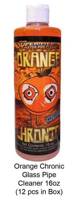 Orange Chronic Glass Pipe Cleaner 16oz