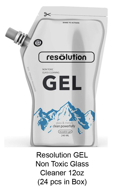 Resolution Non toxic Glass Cleaning Gel 12oz