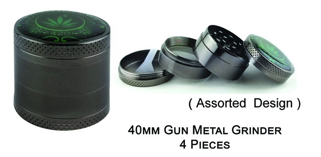 40mm Gun Metal Grinder 4 Pieces