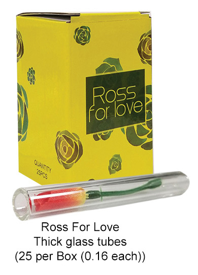 Ross For Love Thick Glass Tube