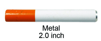 2 Inch Metal Half Smoked Cigarette One Hitter