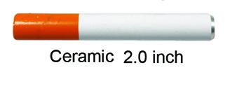 2 Inch Ceramic Half Cigarette One Hitter