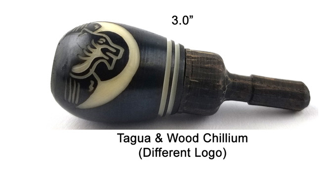 3 Inch Tagua And Wood Chillum