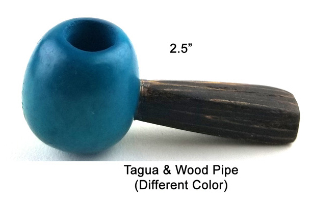 2.5 Inch Tagua And Wood Pipe