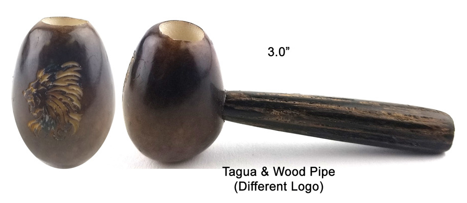 3 Inch Tagua And Wood Pipe With Different Logo