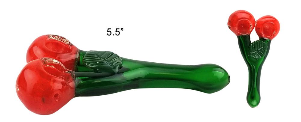 5.5 Inch Cherry Glass Hand Pipe