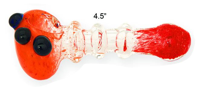 4.5 Inch Orange Lava Glass Hand Pipe