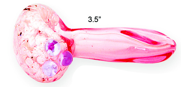 3.5 Inch Pink Glass Pipe