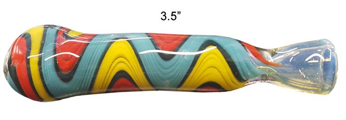 3.5 Inch Blue yellow red Chillum