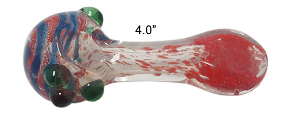 4 Inch Red Glass Hand Pipe