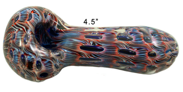 4.5 Blue red Hand Pipe