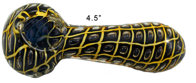 4.5 Inch Black And Yellow Hand Pipe