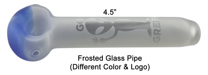 4.5 Inch Frosted Glass Pipe
