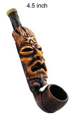 4.5 Inch Totem Wooden Pipe