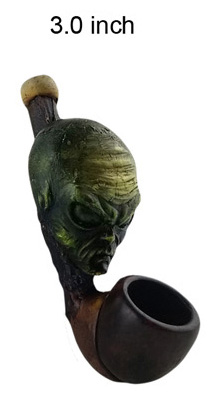 3 Inch Aliens Wooden Pipe