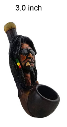 3 Inch Rasta Face Wooden Pipe