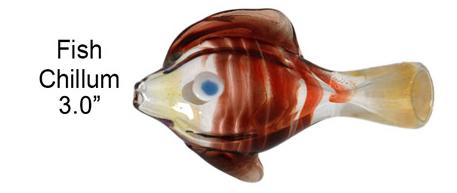 3 Inch Red Fish Chillum