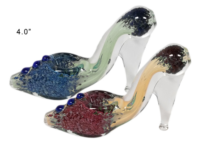 4 Inch Heels Glass Hand Pipe