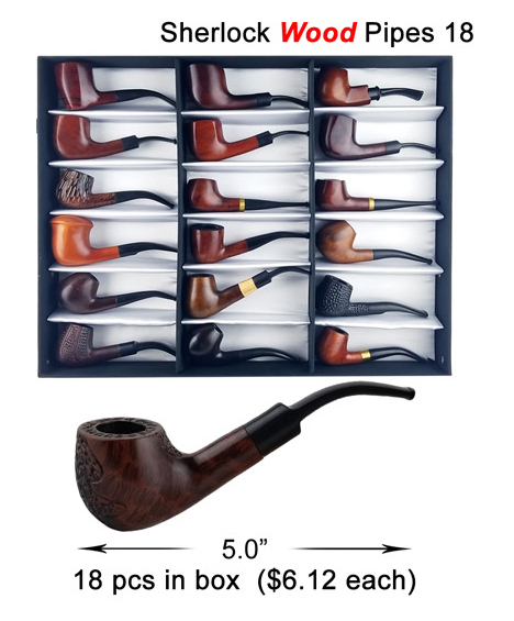 18 Inch Sherlock Wood Pipe