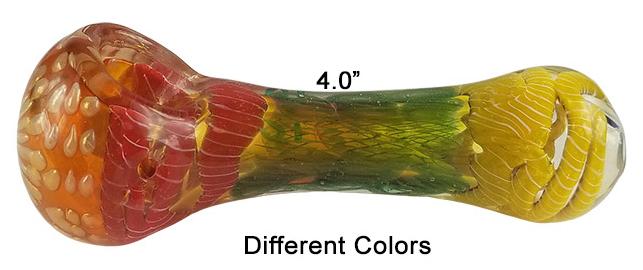 Rainbow 4 Inch Glass Hand Pipe