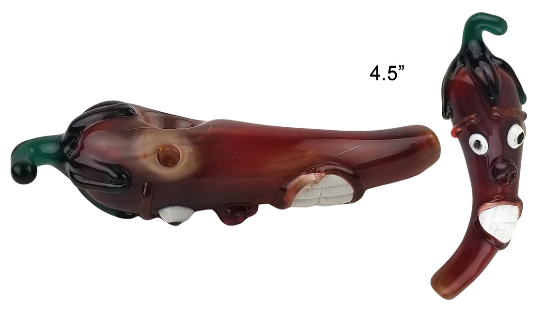 4.5 Inch Pepper Face Glass Hand Pipe
