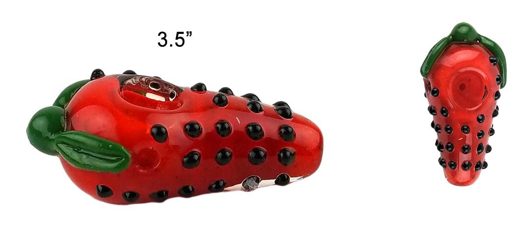 3.5 Strawberry Glass Hand Pipe