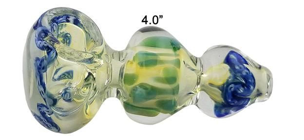 4.0 Inch Sea Corals Glass Hand Pipe