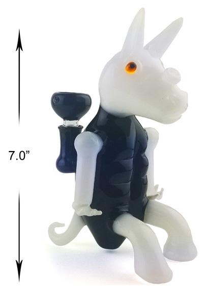 7 Inch Blue white Unicorn Water Pipe