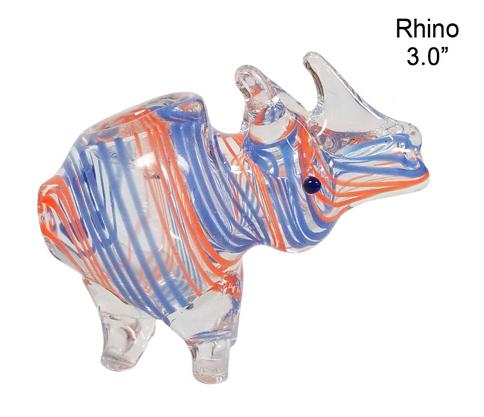 3.0 Inch Rhino Glass Hand Pipe