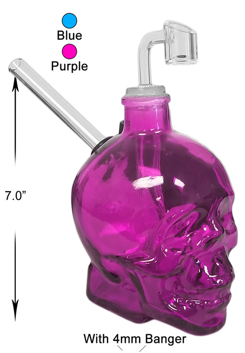 7 Inch Skull Water Pipe With 4mm Banger