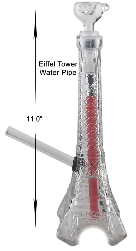11 Inch Eiffel Tower Water Pipe