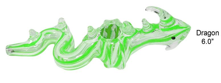 6.0 Inch Dragon Glass Hand Pipe