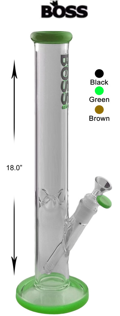 18 Inch Boss Glass Straight Shooter Water Pipe
