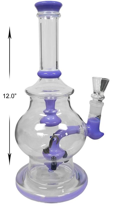 12 Inch Blue Percolator Water Pipe
