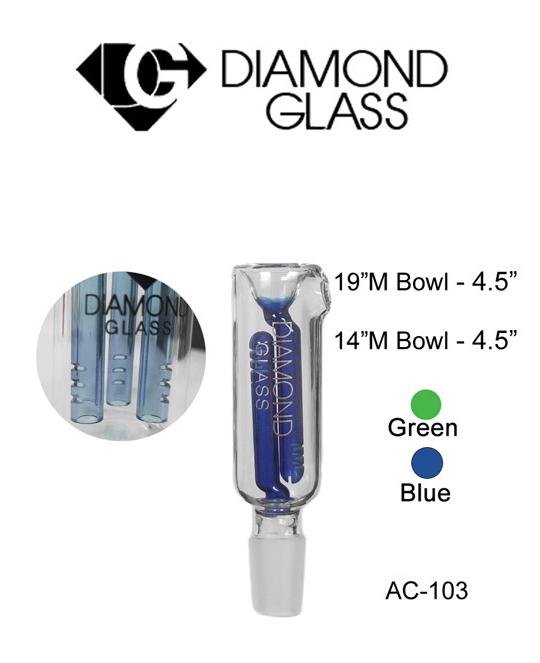 14 & 19 M Bowl 4.5 Inch Diamond Glass Ash Catcher
