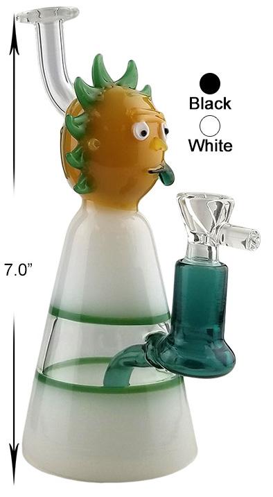 7 Inch White Black Rick Dab Rig