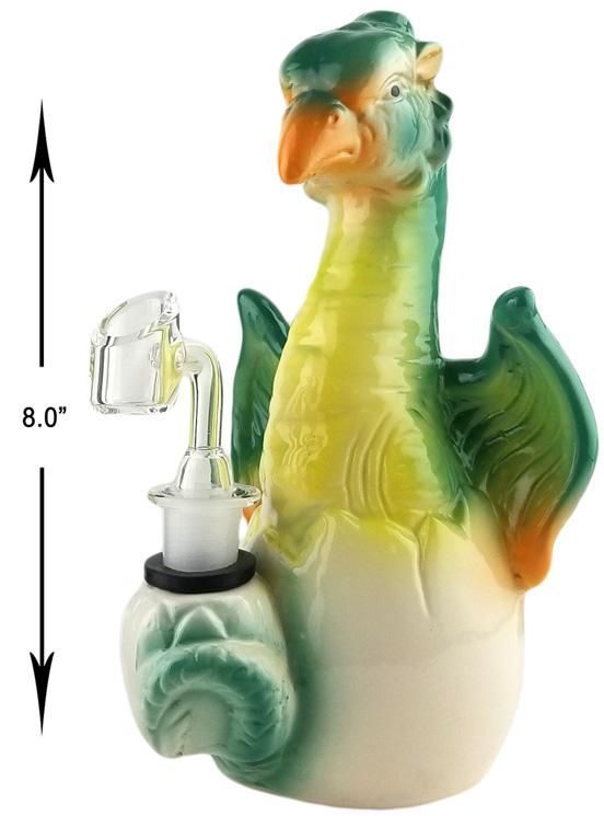 8 Inch Green Bird Dab Rig